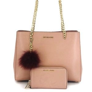 Michael Kors Bags   3pcs Eden Lg Grab Bag Wallet Charms
